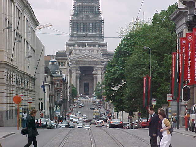 A great view to the great Palace of Justice in Brussels...