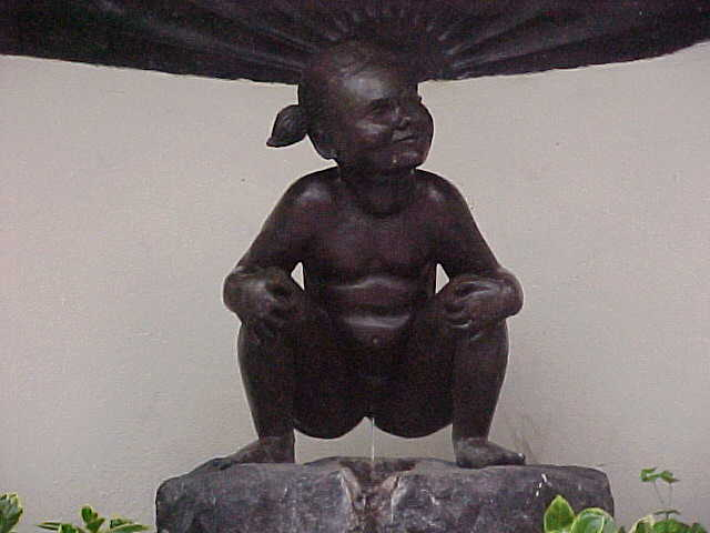 The worlds most searched for statue on the world: this is Jeanneke Pis, peeing yes...