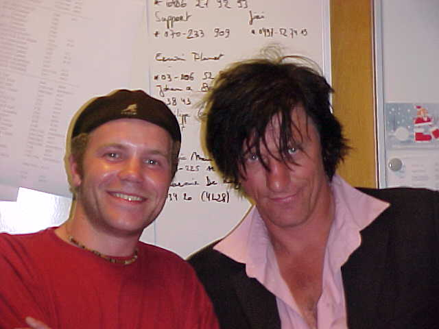 Dutch singer Rick de Leeuw posing with me at the radio studio!