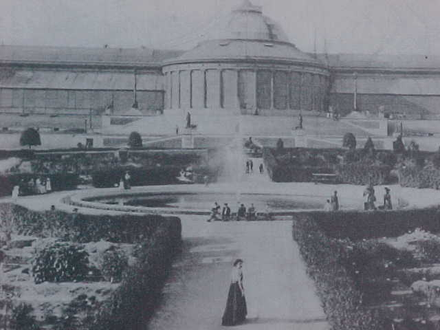 A photograph of the Botanic Garden of Brussels one hundred years ago...