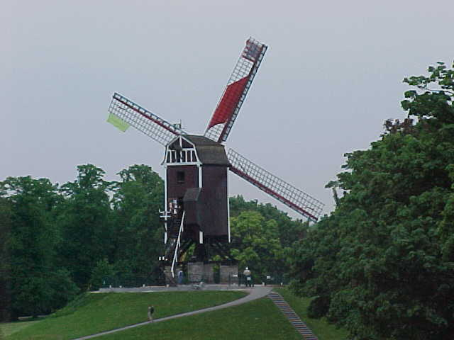 Even Brugge has some quit unique wind mills surrounding the city...