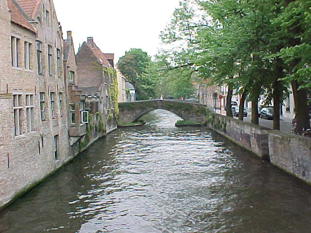 Followed by the oldest canal bridge in Brugge...