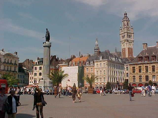 The centre of Lille as seen from the famous Place du G�neral de Gaulle...