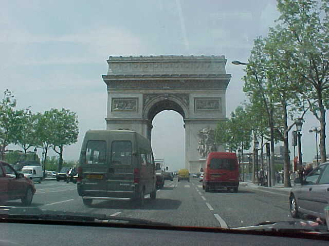 Les Champs Elysées passed by the car...