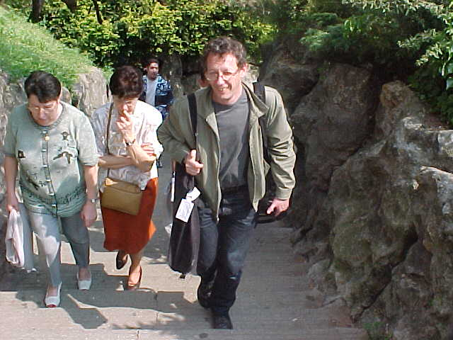 He had absolutely now problem, he did not had to walk up all the steps with a backpack...