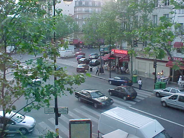 The great view onto Paris streets from Jeannes apartment...
