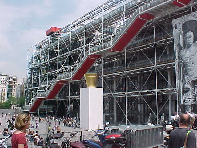 This is Le Centre Pompidou, I remember it always was on the cover of my French class book in highschool...