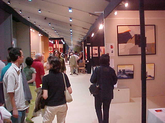 At the galery opening...