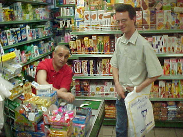 After the exposition Walter did some fast shopping...