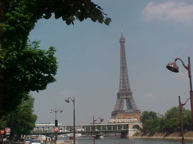 My favorite photograph until now, the Eiffel Tower from across the Seine river...
