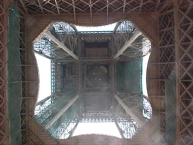 As soon as I got to the right place, below the Eiffel Tower I just had to cool down myself... It was too hot....