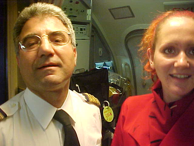 I like your camera, the captain said. Okay, there you go... SMILE...