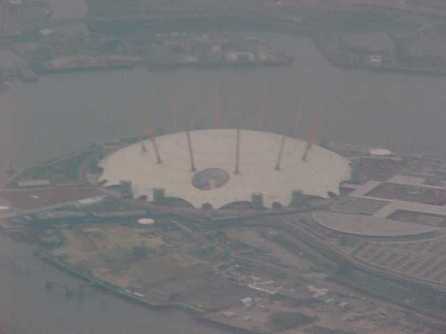 The London Millennium Dome photographed from above...