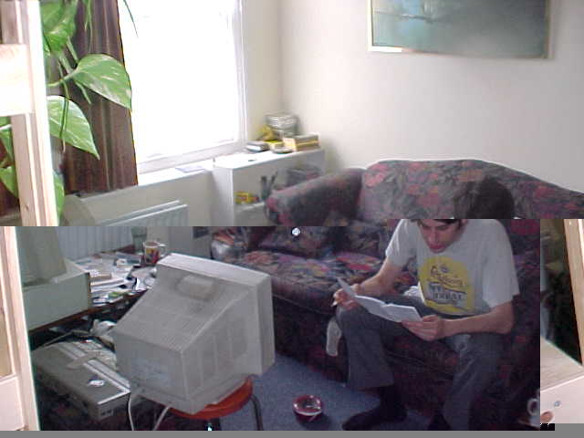 Ummm, something happened on the way to cyberspace I think... Paul in his living room