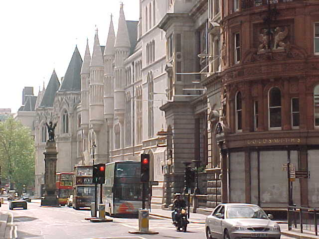 The Royal Courts as seen from Fleet Street...