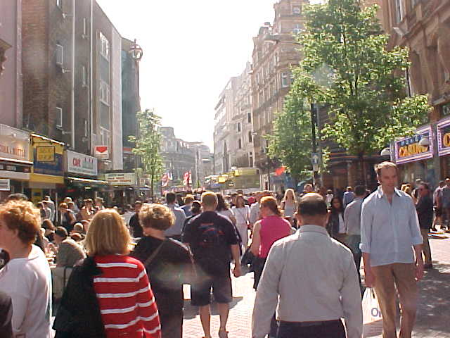 And then suddenly you walk in the crowded centre of the city...