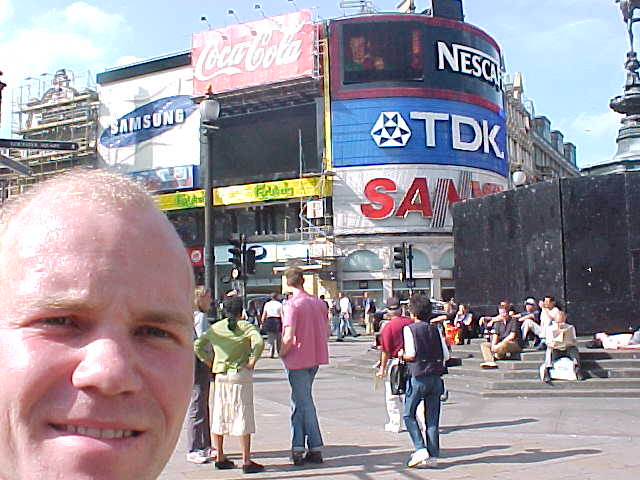 Yep, that is me at Piccadilly Circus square!