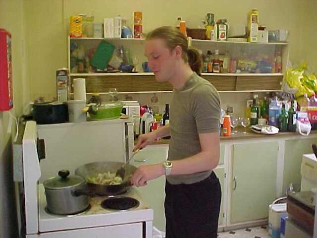 Mister Wilson preparing spaghetti!