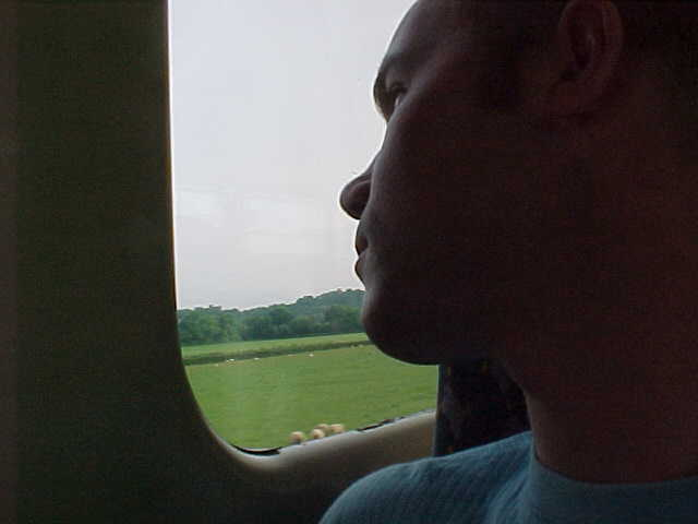 Still a bit sleepy in the train to Bristol...