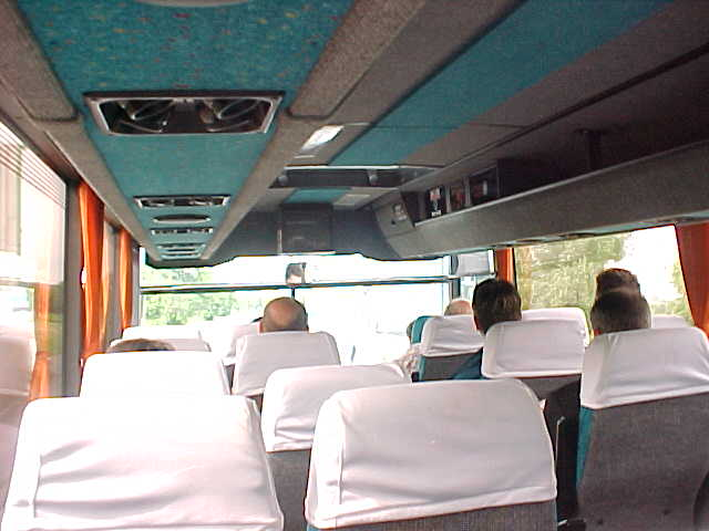 In the coach to Bristol International Airport...