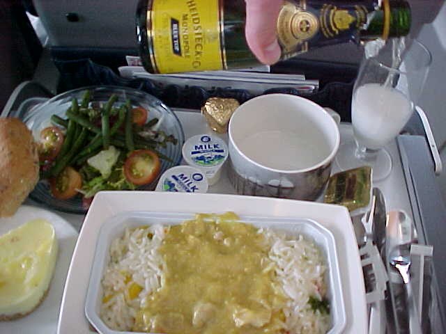 First class lunch with CHAMPAIGN!