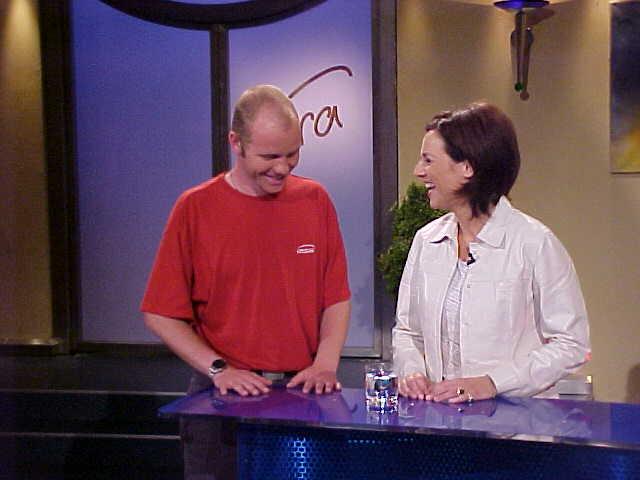 Having fun on Austrian television...