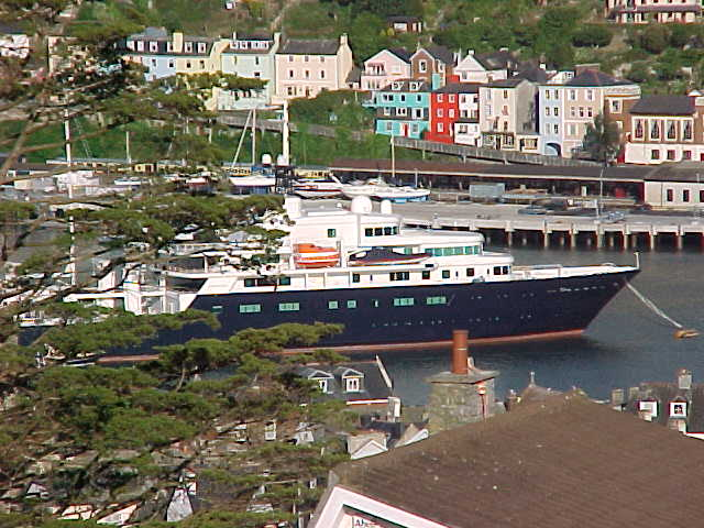 And right there, in the port-water: Bill Gates yacht, Le Grand Blue...