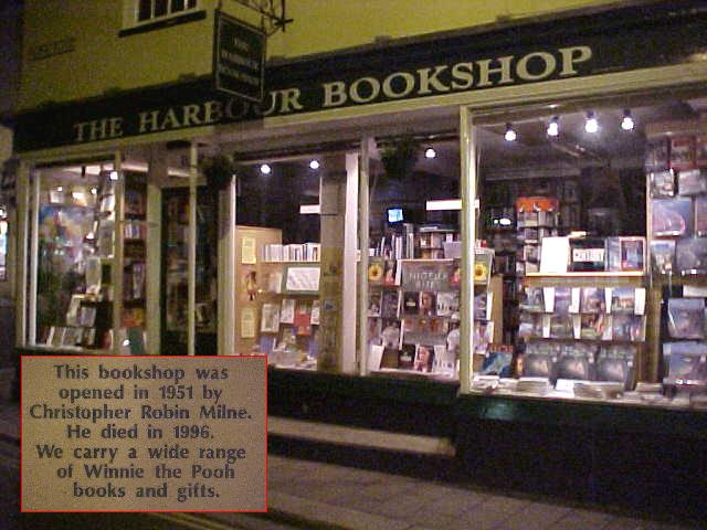 On the way this famous bookshop, once owned by the creator of Winnie the Pooh...