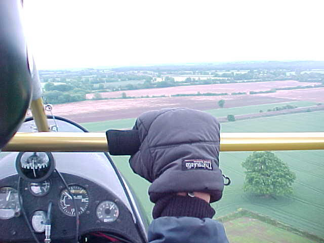 Sitting behind Nick at 500 feet above the ground...