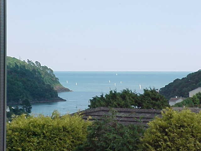 My view from the window of my room in the Barrington House in Dartmouth...
