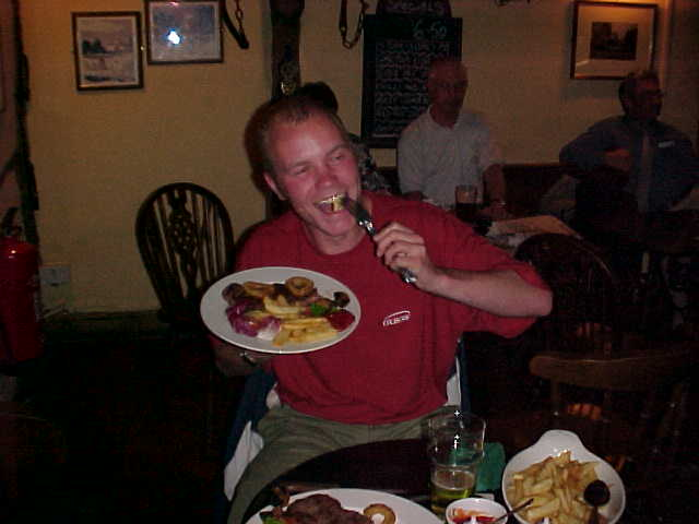 And me having a great steak for dinner!