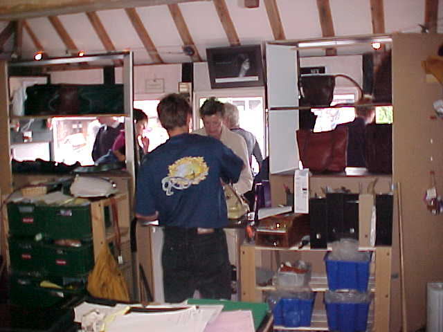 This morning in Nicks Leather workshop, always busy.