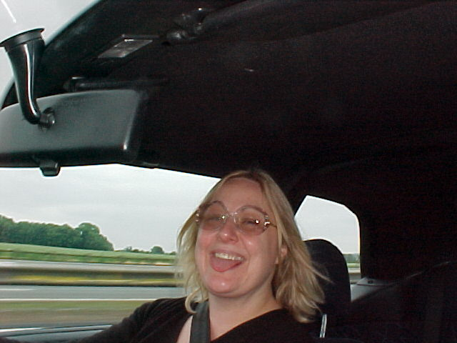 Hey, that's my Sheffield hostess Wendy in the car home!