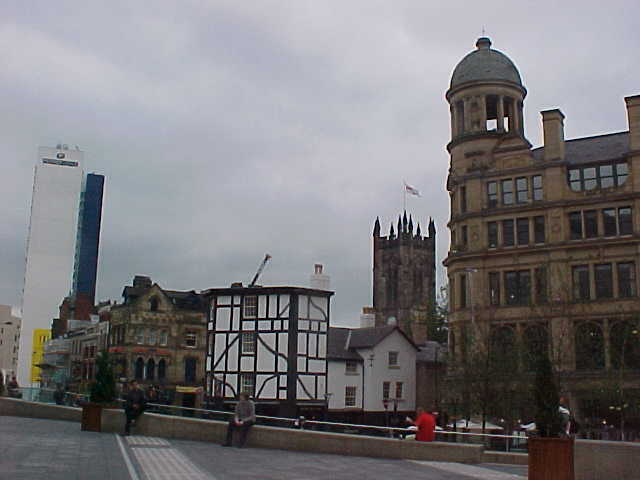 The Exchange Square in front of the Marks & Spencer building...