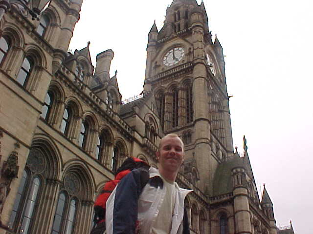 Me in front of the Manchester City Hall. Yep, I got the full city tour!