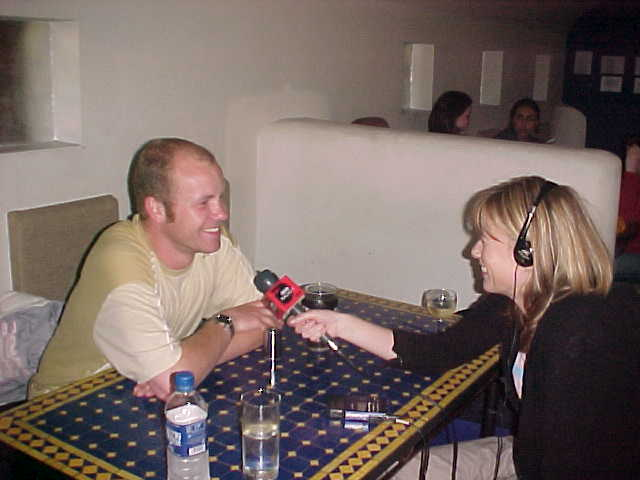 This is me and the reporter of BBC Radio 1, interviewing me in a little restaurant across the streets from the BBC Manchester Head Quarters.