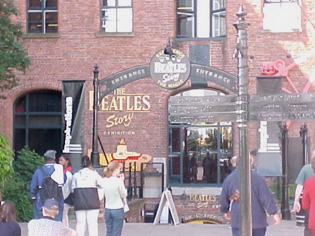 The entrance of the Beatles Museum at the Docks...