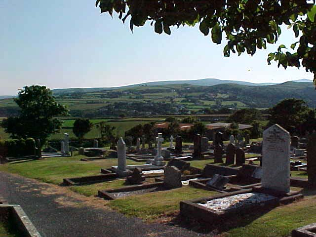 I had to go through the cementary to climb up Maugholds Head.