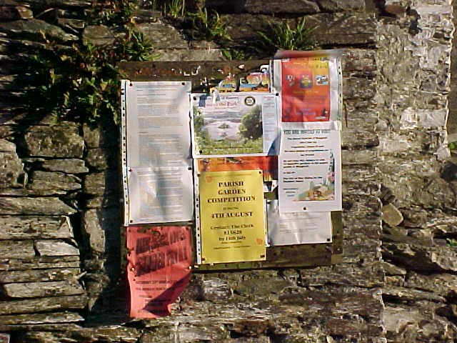 Well, this is the community information board of Maughold...