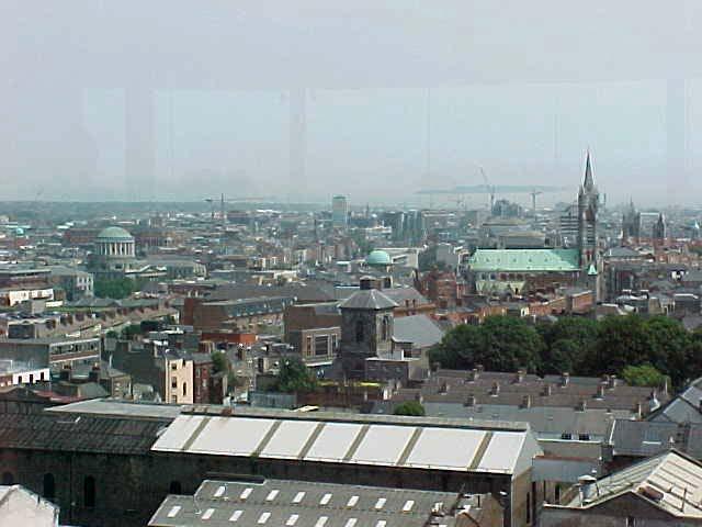7th floor view on Dublin with along the horizon the Dublin Port...