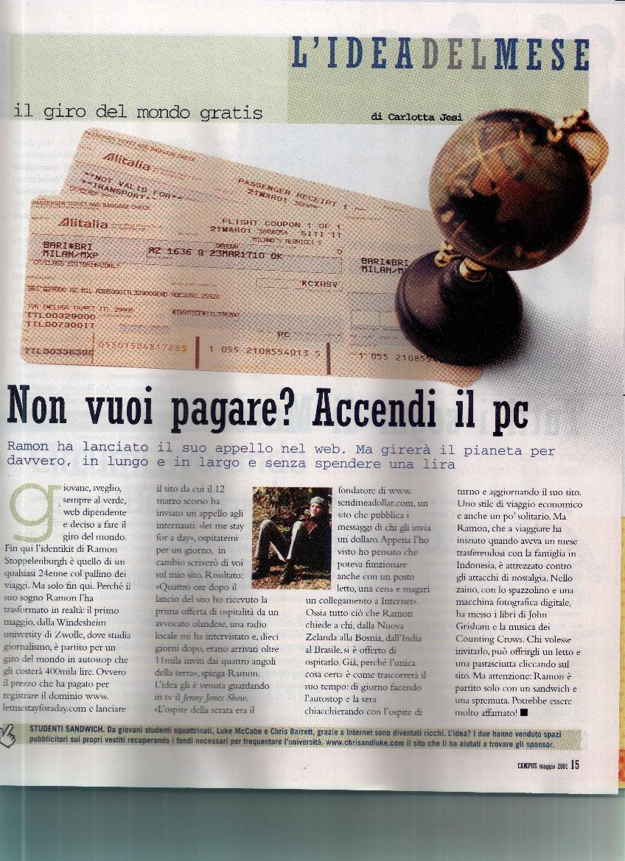 Ramon in the Italian press...