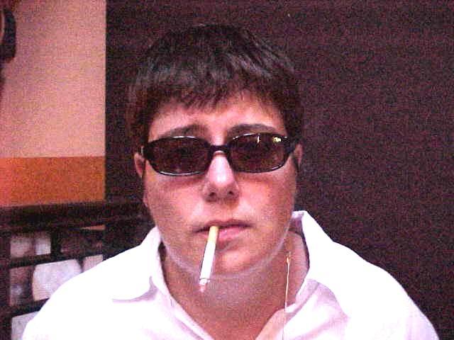 Deidre doing her Noel Gallagher (OASIS) imitation.