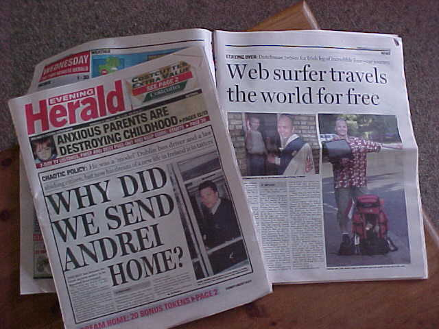 The Evening Herald as how it was published last in last Wednesday edition.