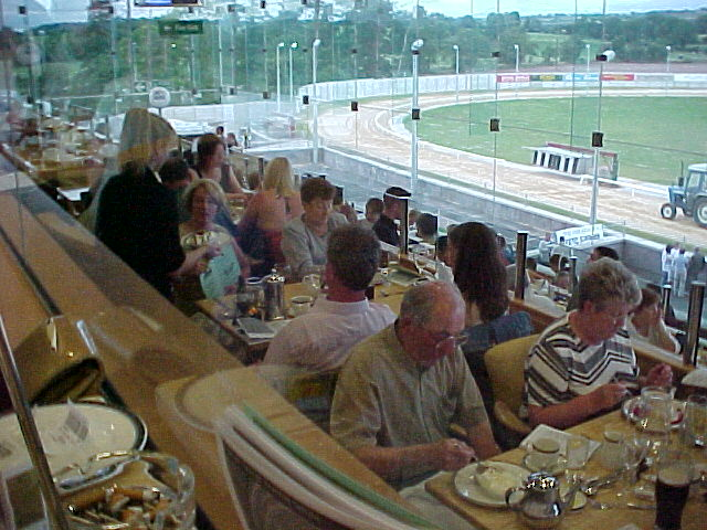 8pm at the Greyhound Dog Tracks, everybody is getting served dinner.