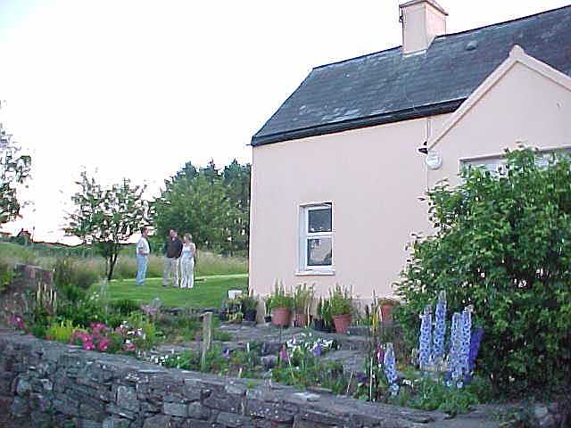 Liam and Christine really live in a nice little cottage. It is over 100 years old. Next week it should be all painted white.