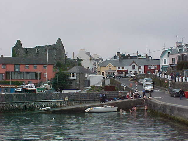 Baltimore port, a view from the ferry, just before departure to Shenklin Island.