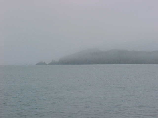 Shenklin Island from far, look at those clowds!