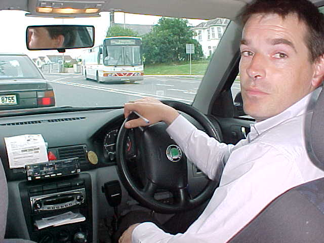 The proof of me being in a FREE taxi, this was the Robbie-Williams-look-a-like driver!