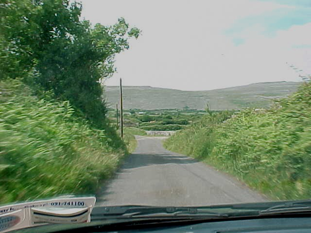 On our way to The Burren mountains range.
