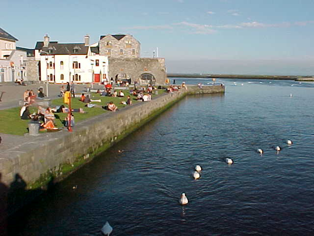 Just like Galway is known: a lot of young people (it is a university city) and the steady 20 swans the city keeps as their treasure...